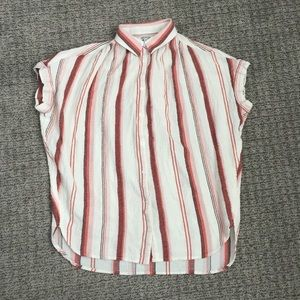 Madewell linen central shirt striped XXS